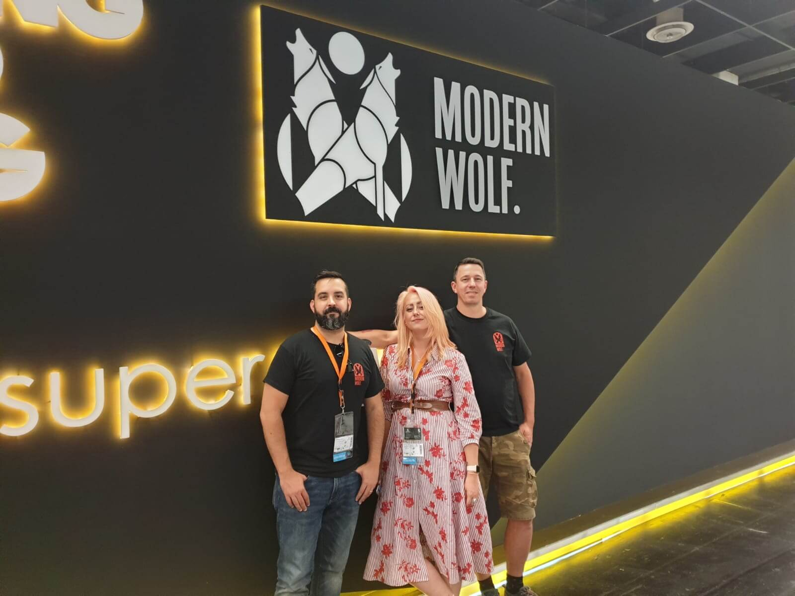 Fernando, Andreas and I outside our booth at gamescom 2019
